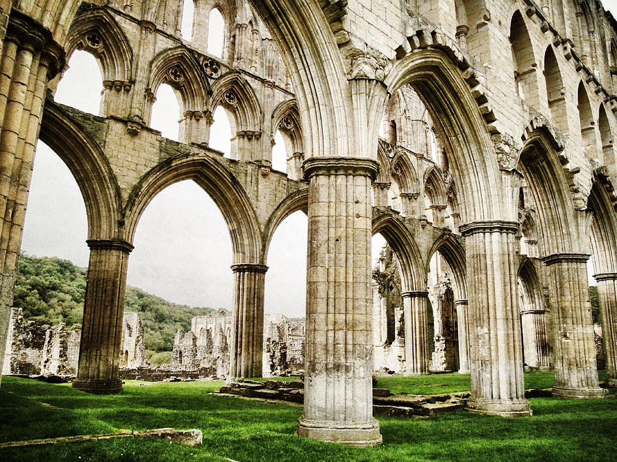 Cloisters Rievaulx Abbey Photograph - Cloisters Of Rievaulx Abbey by Sarah Couzens