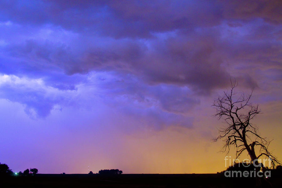 Clolorful C2c Lightning Country Landscape Photograph  - Clolorful C2c Lightning Country Landscape Fine Art Print