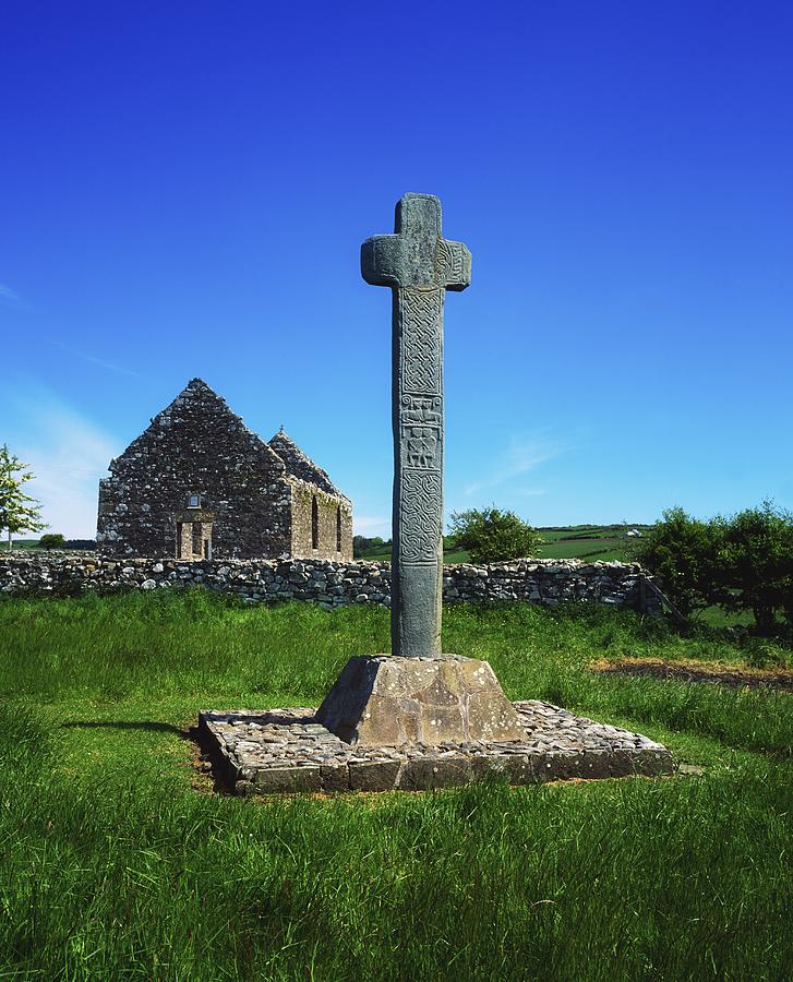 Day Photograph - Cloncra Church, Inishowen Peninsula by The Irish Image Collection