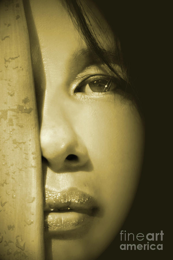 Close-up Of A Beautiful Asian Woman Photograph  - Close-up Of A Beautiful Asian Woman Fine Art Print