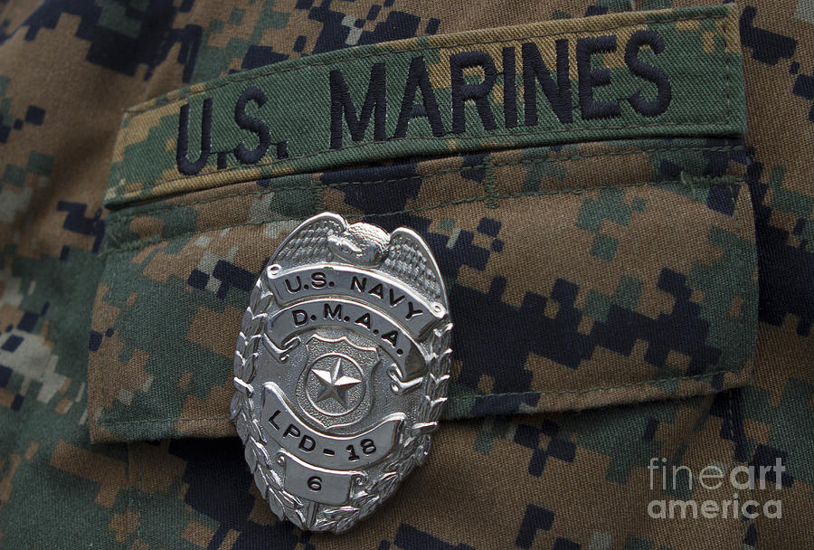 Close-up Of A Duty Master-at-arms Badge Photograph  - Close-up Of A Duty Master-at-arms Badge Fine Art Print