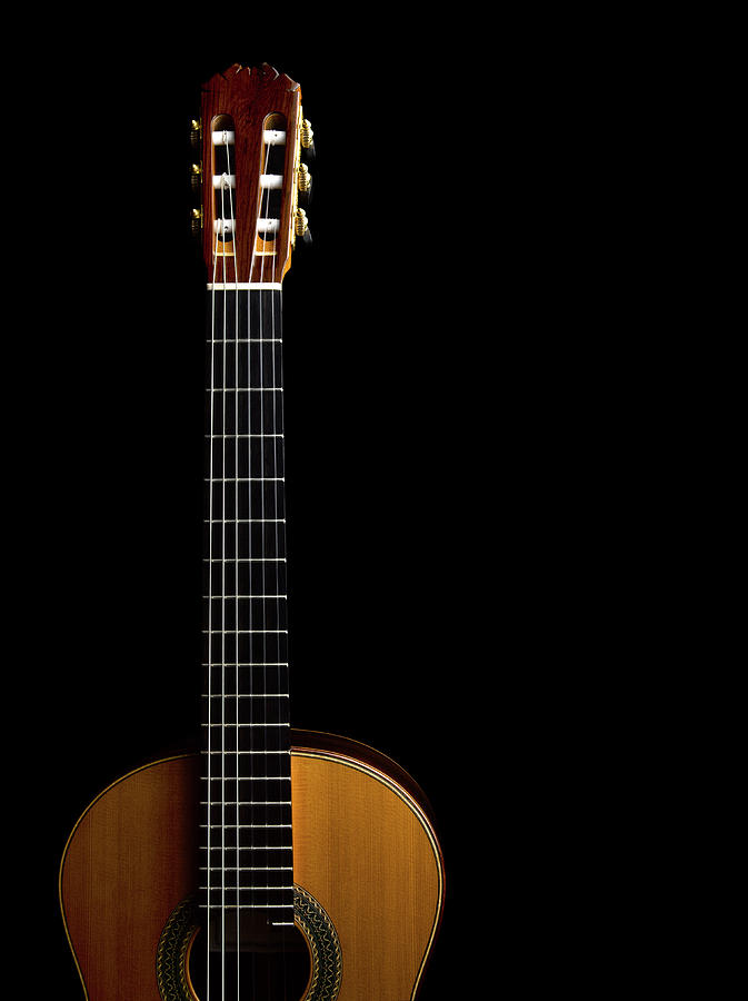 Acoustic Guitar Dark Background