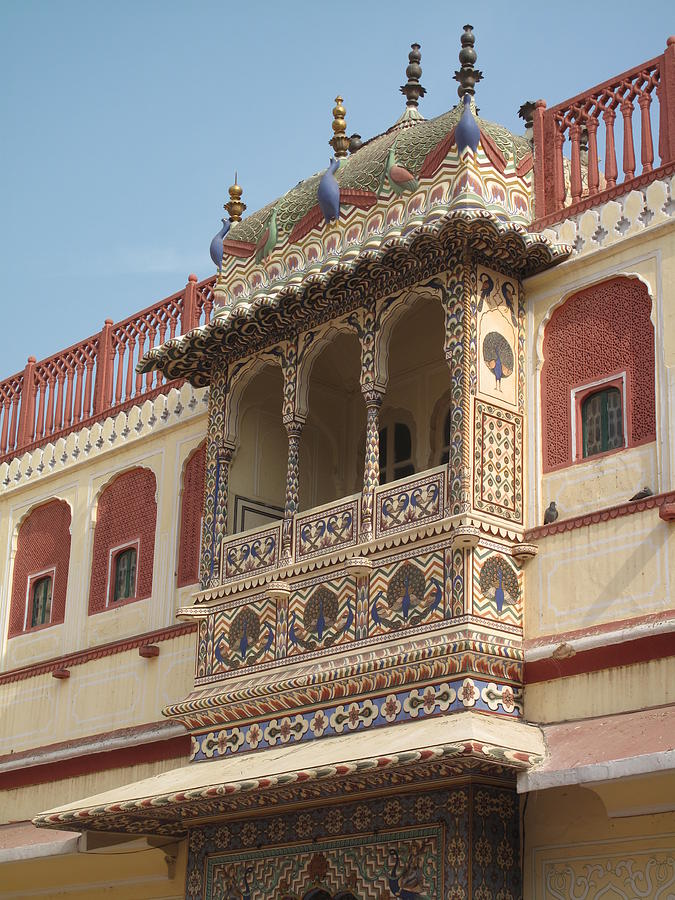 Close Up Of Blacony Of City Palace Photograph