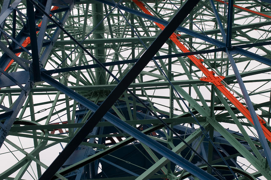 Close-up Of Ferris Wheel Mechanism Photograph  - Close-up Of Ferris Wheel Mechanism Fine Art Print