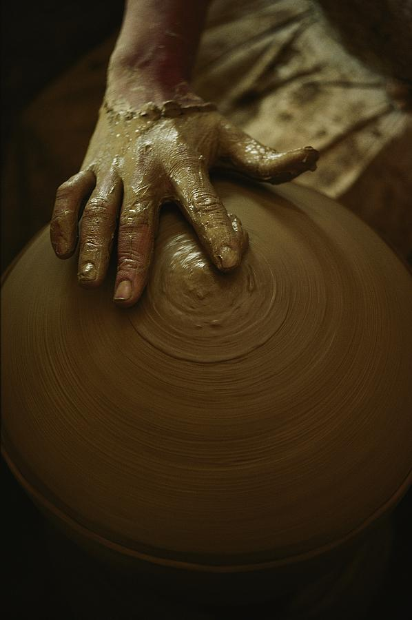 Close-up Of The Brown Muddy Hand Photograph  - Close-up Of The Brown Muddy Hand Fine Art Print