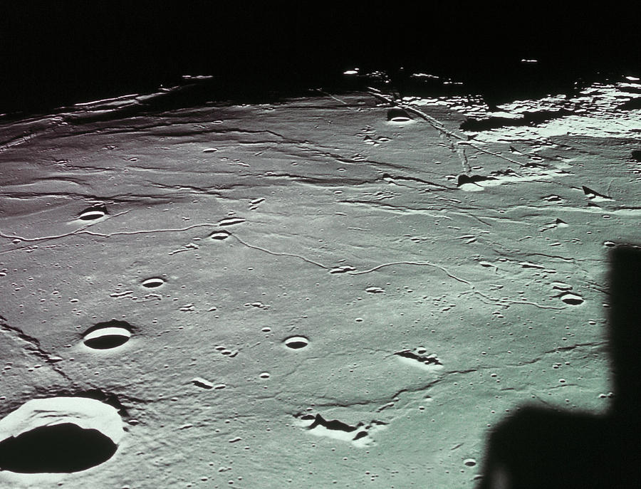 Close-up Of The Craters On The Surface Of The Moon Photograph