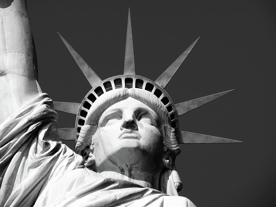 Close Up Of The Head Of The Statue Of Liberty Photograph