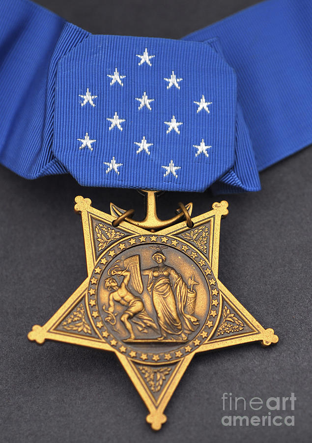 Close-up Of The Medal Of Honor Award Photograph  - Close-up Of The Medal Of Honor Award Fine Art Print