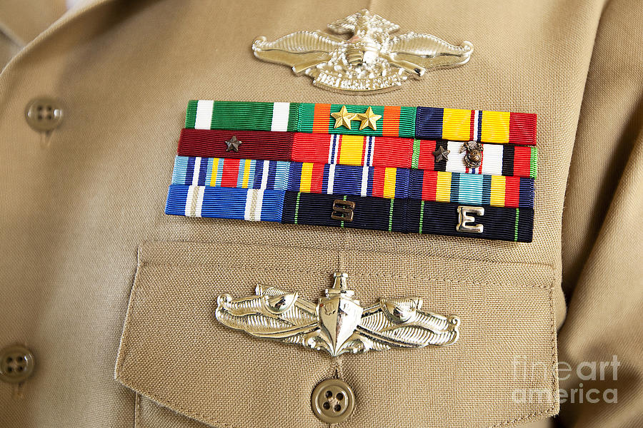 Navy Photograph - Close-up View Of Military Decorations by Stocktrek ...