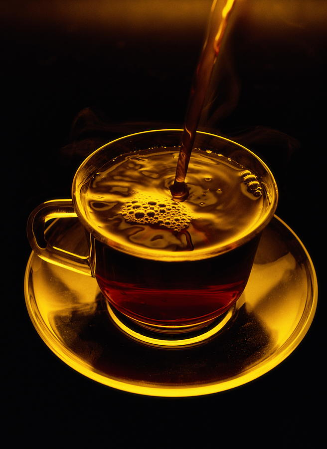 Close View Of Coffee Being Poured Photograph  - Close View Of Coffee Being Poured Fine Art Print