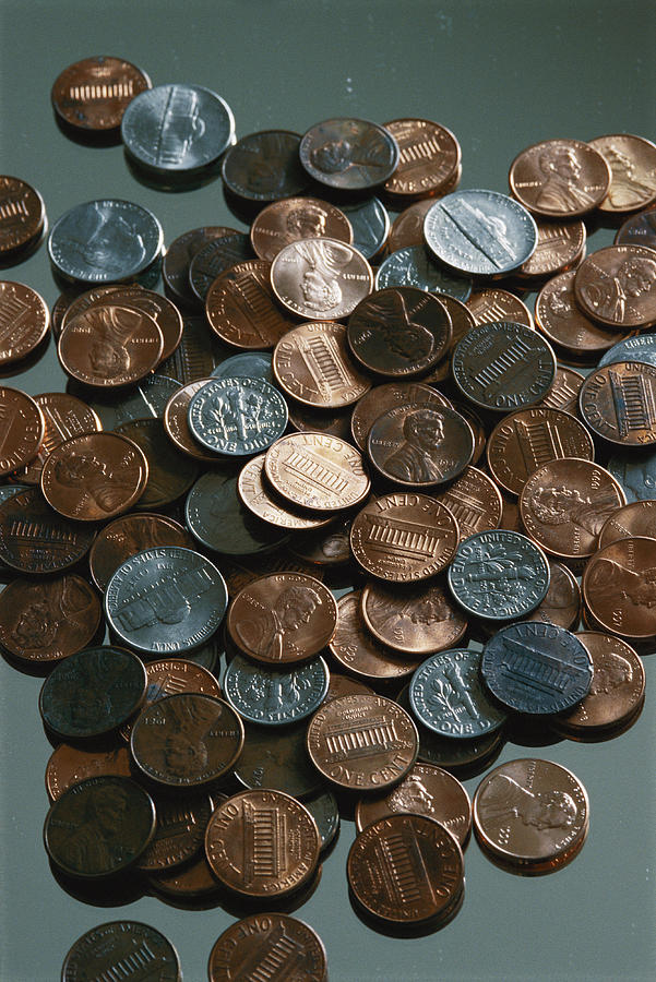 Close View Of United States Coins Photograph  - Close View Of United States Coins Fine Art Print