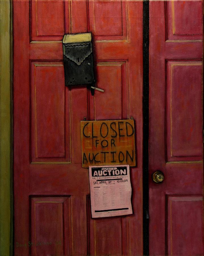 Closed For Auction Painting