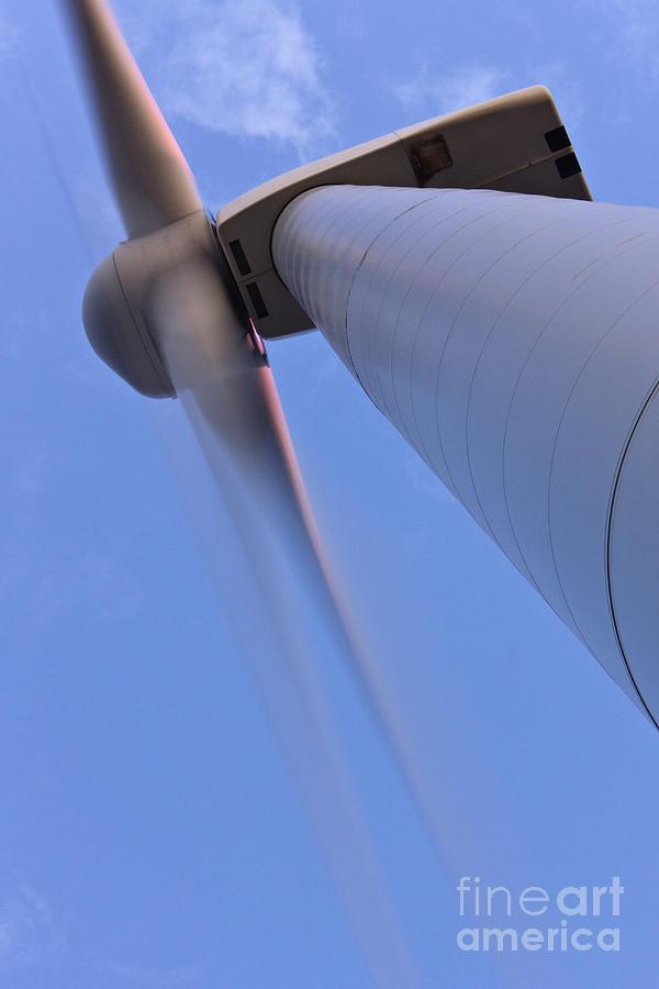 Alternative Energy Photograph - Closeup Of A Wind Turbine by Jeremy Woodhouse