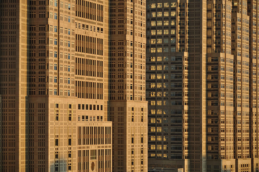 Closeup Of Tokyo Metropolitan Government Building Photograph  - Closeup Of Tokyo Metropolitan Government Building Fine Art Print
