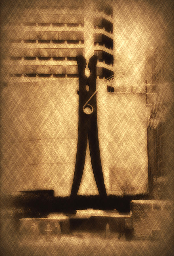 Clothes Pin Statue - Philadelphia Photograph