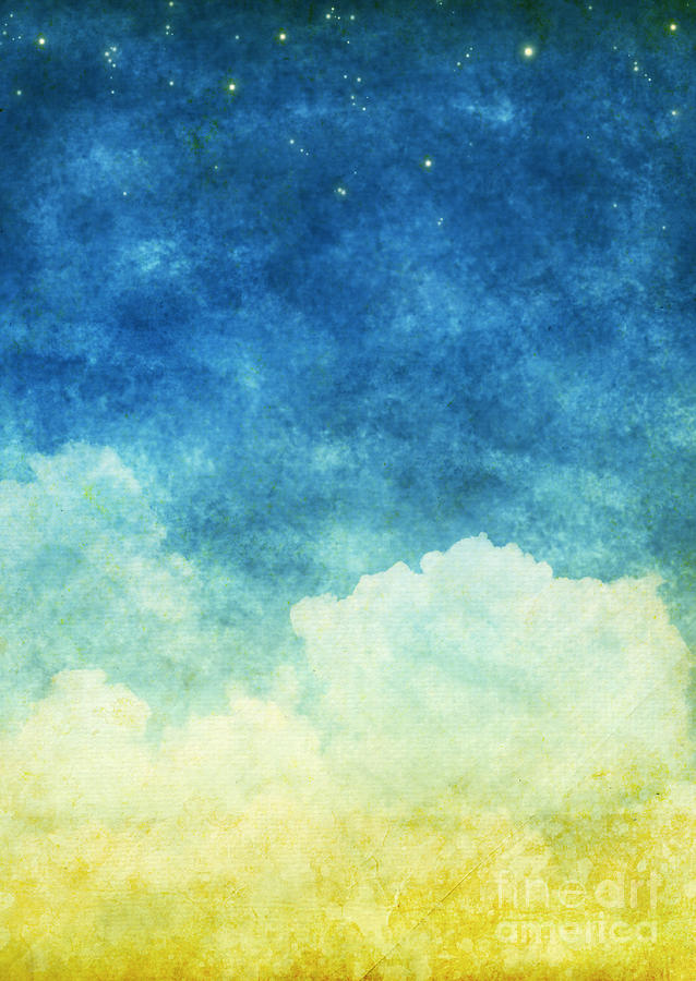 Cloud And Sky Painting  - Cloud And Sky Fine Art Print