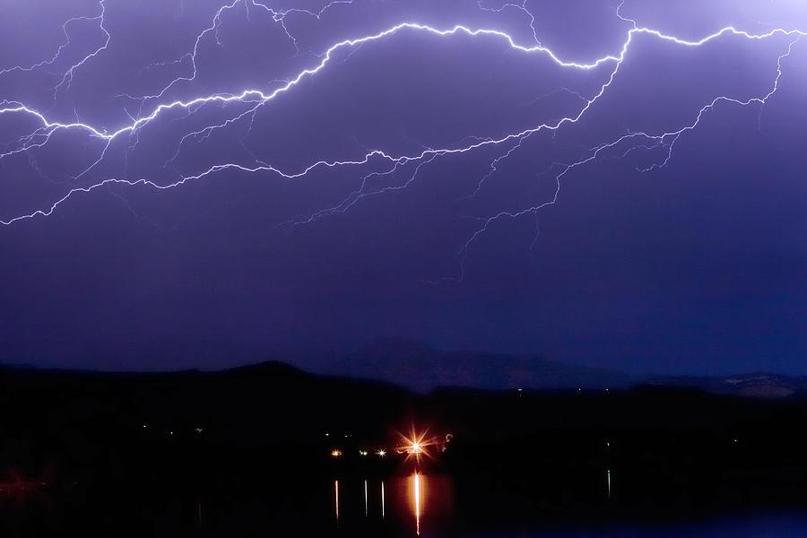 Cloud To Cloud Horizontal Lightning Photograph