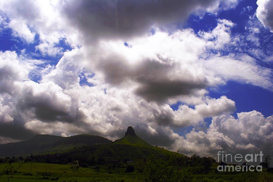 Clouded Hills At Nasik India Photograph