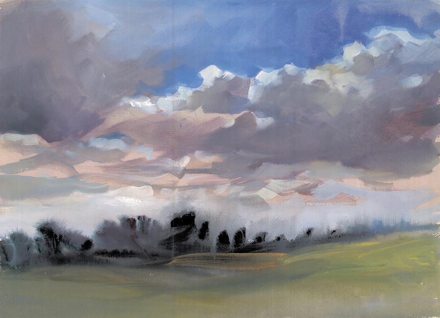 Clouds 1 Painting  - Clouds 1 Fine Art Print