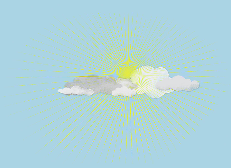 Clouds In Front Of The Sun Digital Art