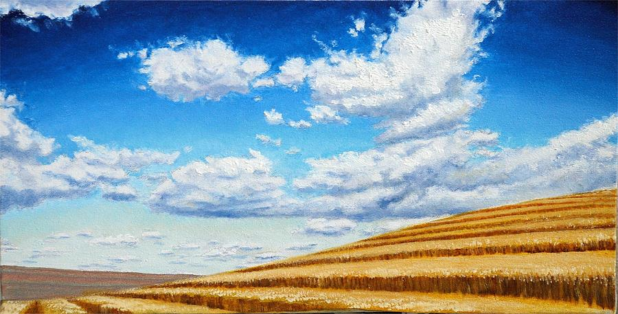 Clouds On The Palouse Near Moscow Idaho Painting  - Clouds On The Palouse Near Moscow Idaho Fine Art Print