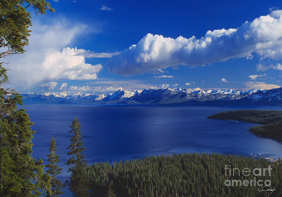 Clouds Over Lake Tahoe Photograph