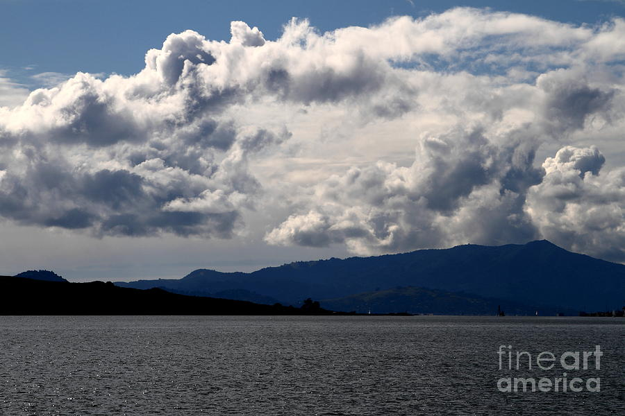 Clouds Over Mount Tamalpais . 7d13713 Photograph  - Clouds Over Mount Tamalpais . 7d13713 Fine Art Print