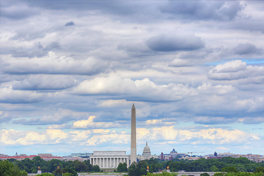 Clouds Over Washington Dc Photograph  - Clouds Over Washington Dc Fine Art Print