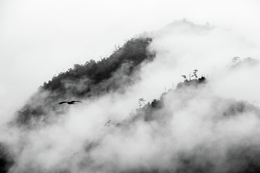 Clouds Surrounding Mountains Photograph