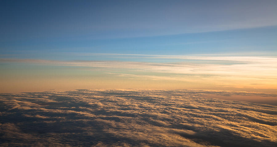 Cloudscape From A 757 Photograph