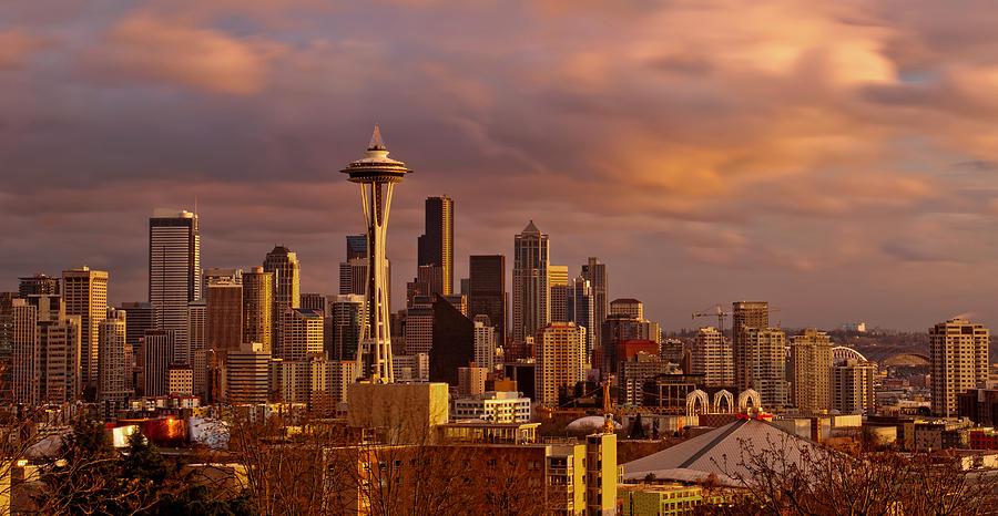 Seattle Photograph - Cloudscrapers by Dan Mihai
