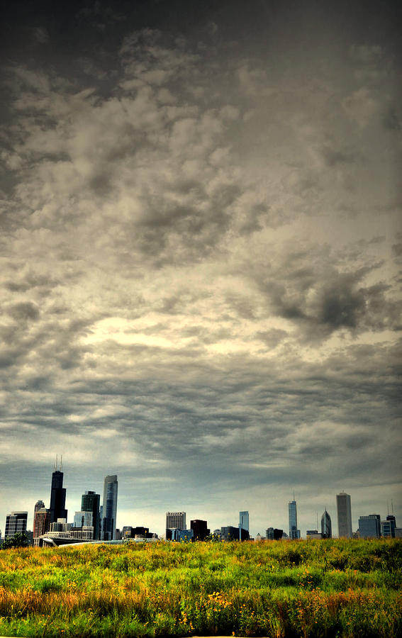Cloudy Chicago  Photograph