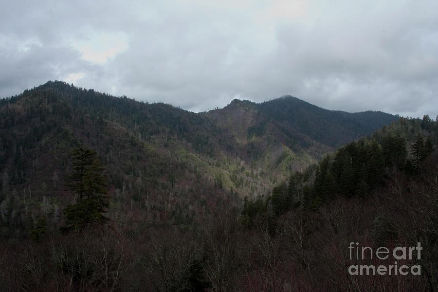 Cloudy Mountain Photograph