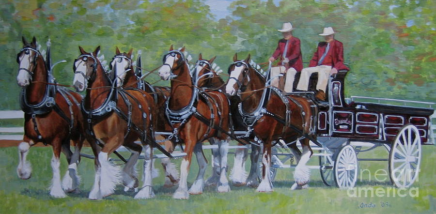 Clydesdale Hitch Painting