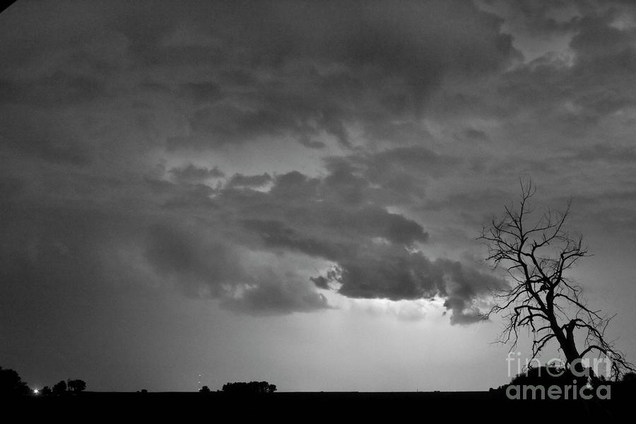 Co Cloud To Cloud Lightning Thunderstorm 27 Bw Photograph
