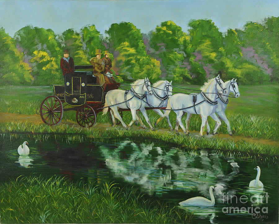 Coach And Four In Hand Painting  - Coach And Four In Hand Fine Art Print