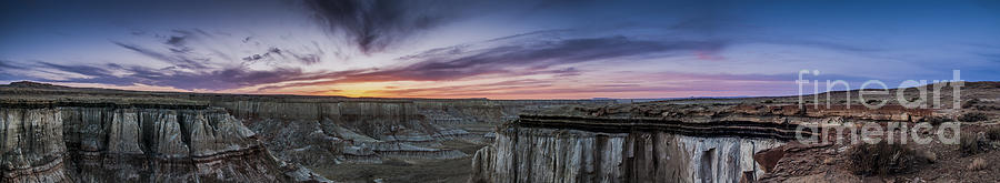 Coalmine Canyon Panoramic Sunset Photograph