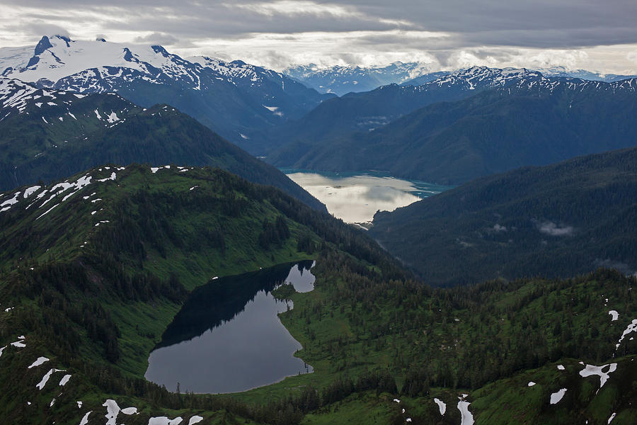Frederick Sound Photograph - Coastal Range Tranquility by Mike Reid