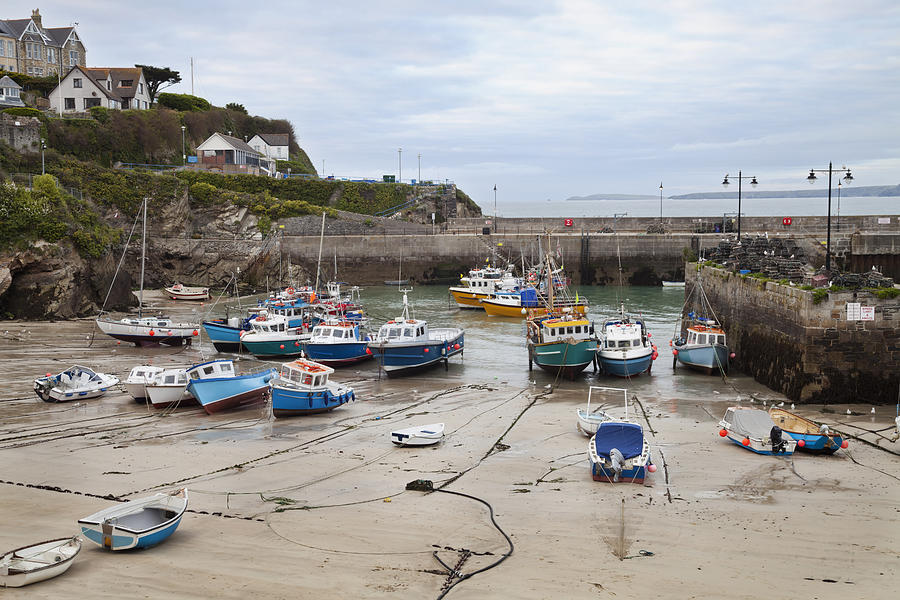 Coastal Town Harbour With Boats Photograph