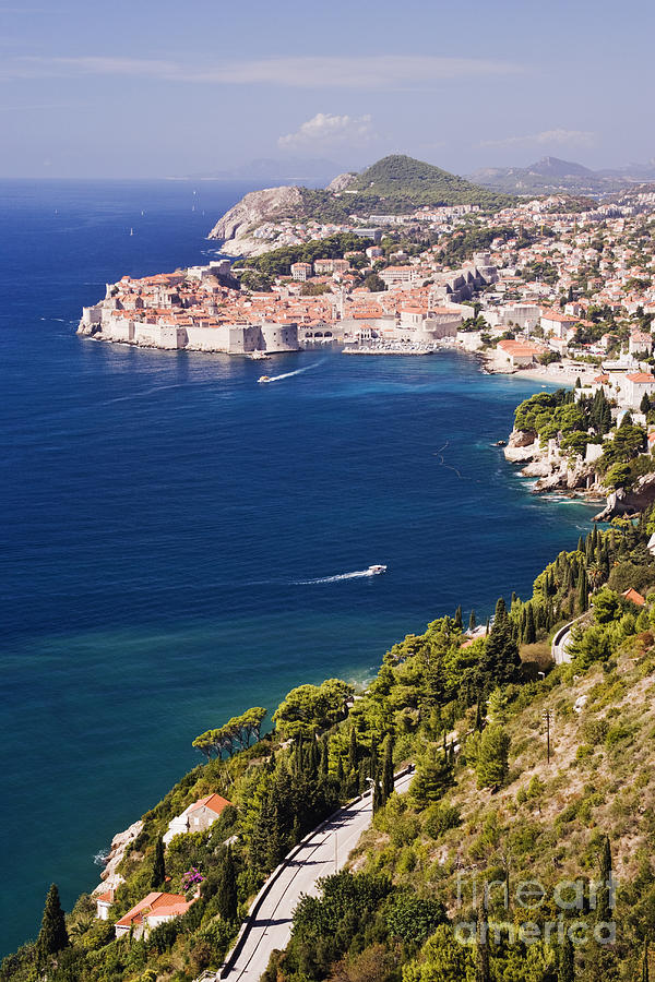 Coastal View Of The Old Town Of Dubrovnik Photograph  - Coastal View Of The Old Town Of Dubrovnik Fine Art Print
