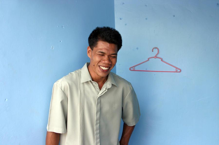 Coat Hanger Smile Photograph