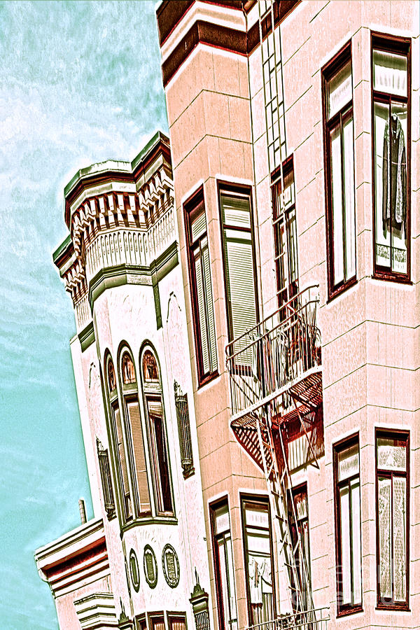 San Francisco Digital Art - Coat In The Window by Artist and Photographer Laura Wrede