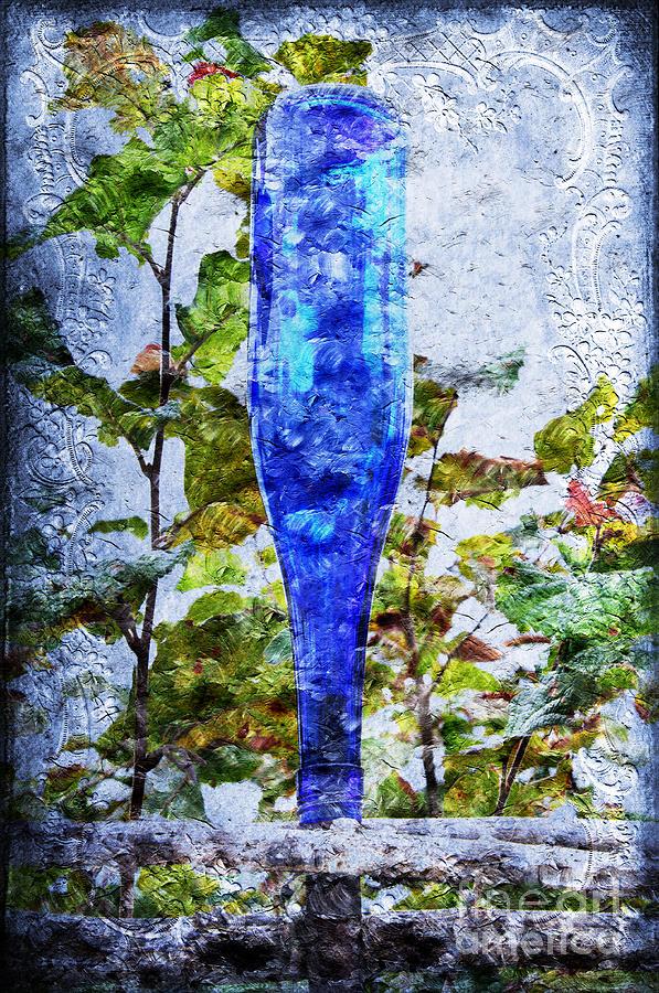 Cobalt Blue Bottle Triptych 1 Of 3 Photograph