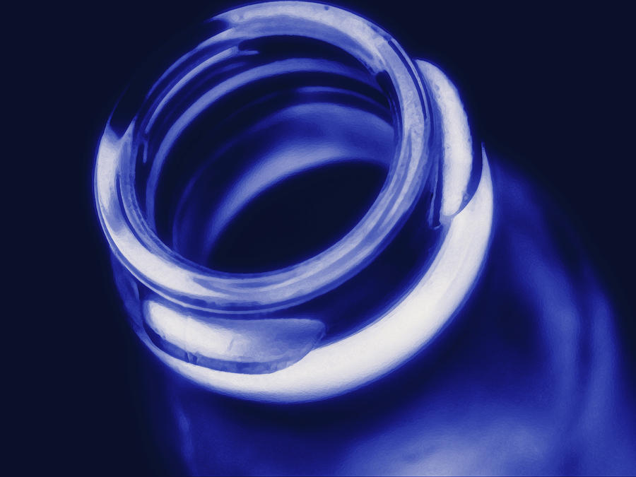 Cobalt Bottle Photograph  - Cobalt Bottle Fine Art Print