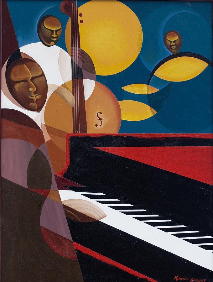 Cobalt Jazz Painting