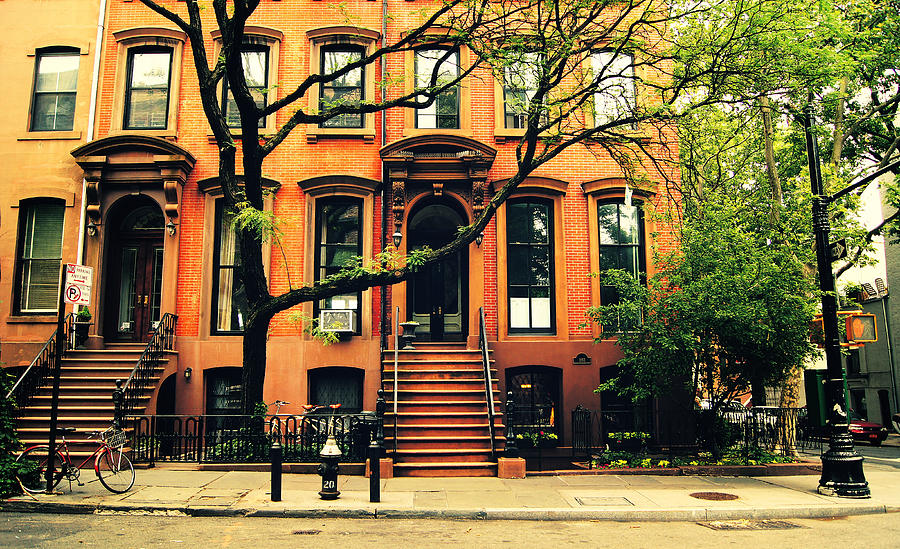Cobble Hill Brownstones - Brooklyn - New York City Photograph