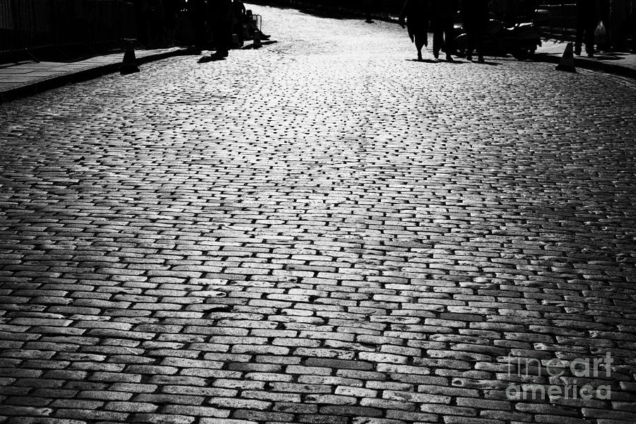 Cobblestoned Street On The Royal Mile Edinburgh Scotland Uk United Kingdom Photograph  - Cobblestoned Street On The Royal Mile Edinburgh Scotland Uk United Kingdom Fine Art Print
