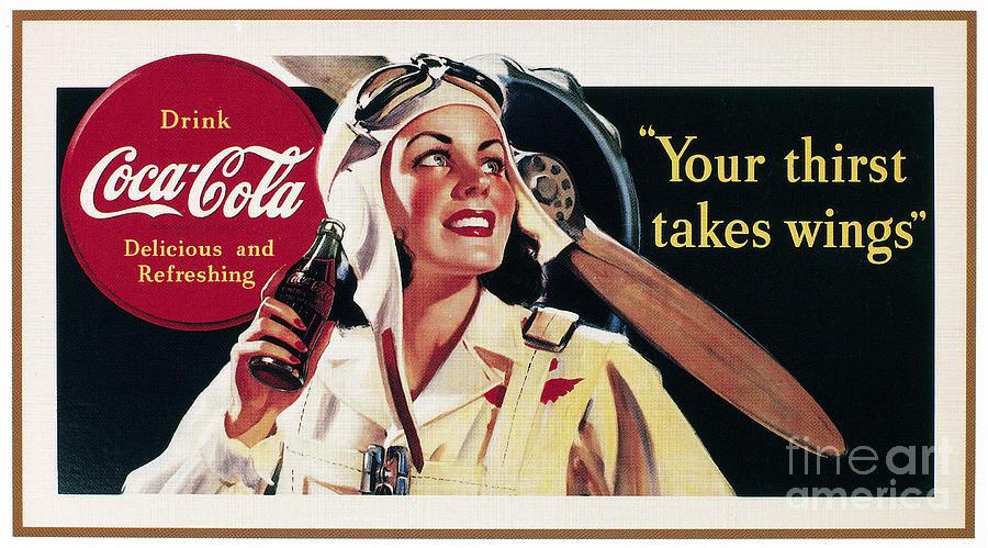 Coca-cola Ad, 1941 Photograph