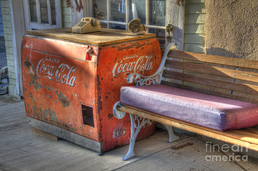 Coca Cola Cooler Back In Time Photograph