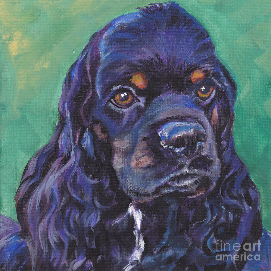 Cocker Spaniel Head Study Painting